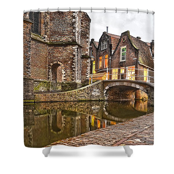 Delft Behind The Church Shower Curtain