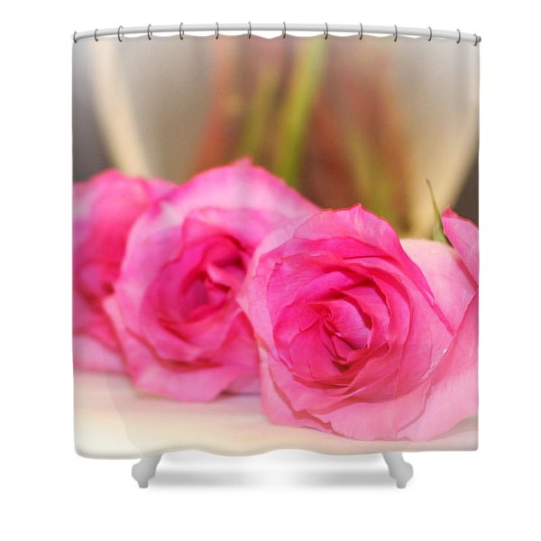 Delicate In Pink  Shower Curtain