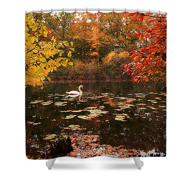 Delightful Autumn Shower Curtain