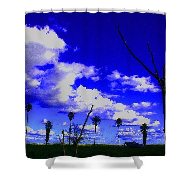 Delta Clouds Shower Curtain
