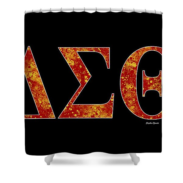 Delta Sigma Theta - Black Shower Curtain