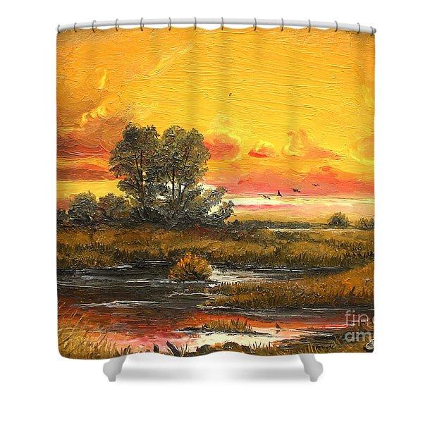 Delta Sunset Shower Curtain