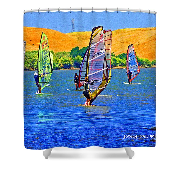 Delta Water Wings Shower Curtain