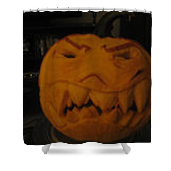 Demented Mister Ullman Pumpkin 3 Shower Curtain