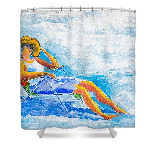 Dena At The Beach Shower Curtain