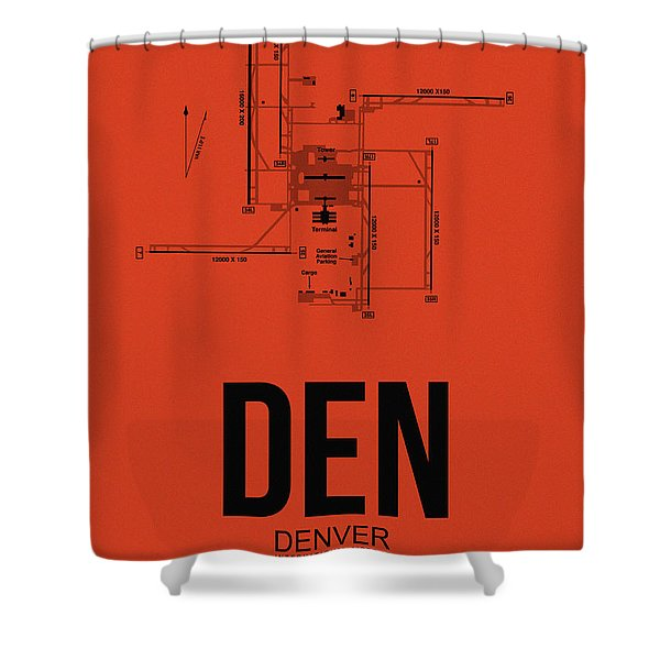 Denver Airport Poster 2 Shower Curtain