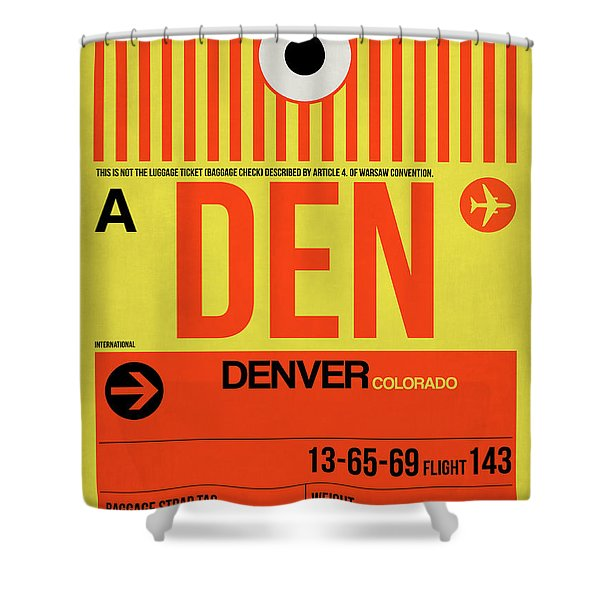 Denver Airport Poster 3 Shower Curtain