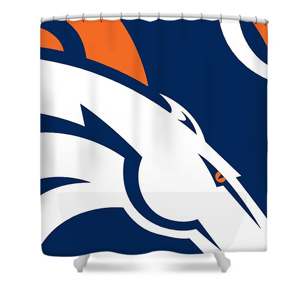 Denver Broncos Football Shower Curtain