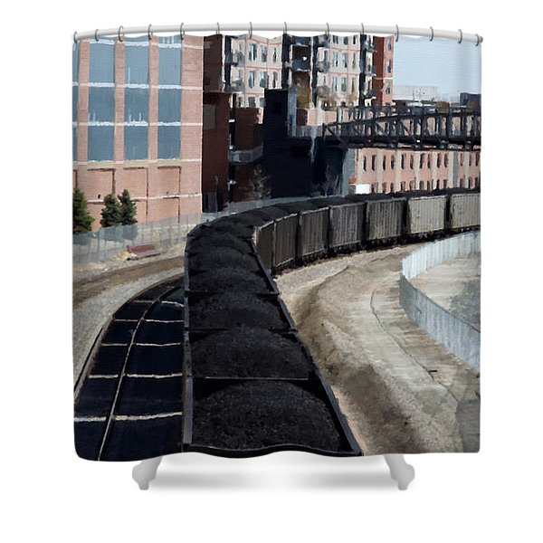 Denver Rail Yard Shower Curtain