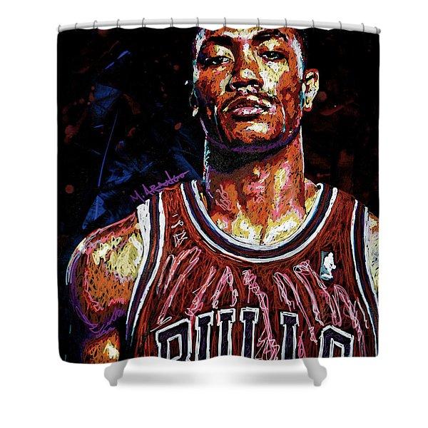 Derrick Rose-2 Shower Curtain