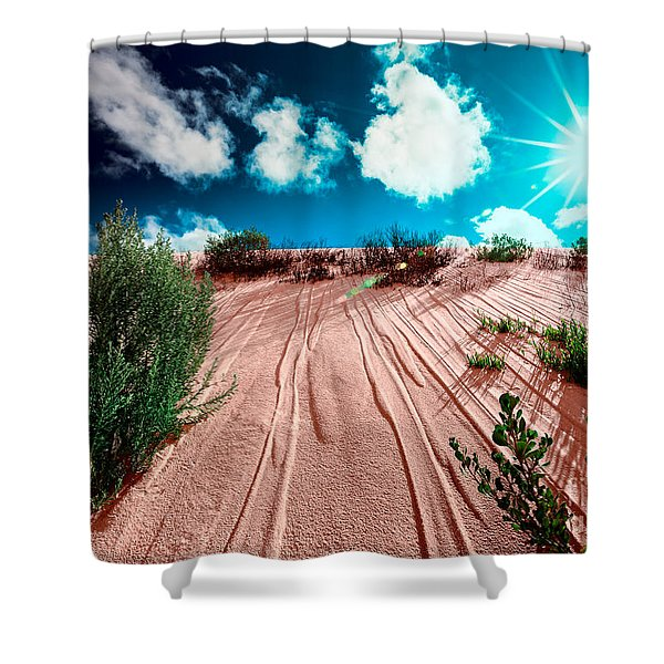 Desert Rays Shower Curtain