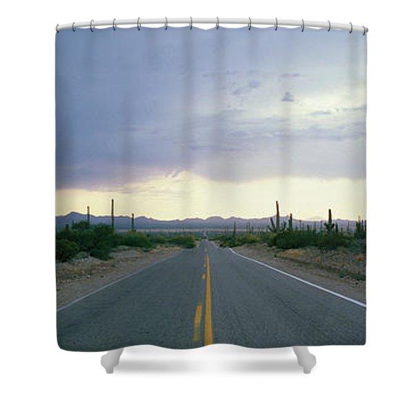 Desert Road Near Tucson Arizona Usa Shower Curtain