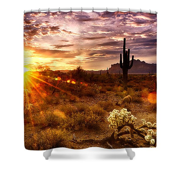 Desert Sunshine  Shower Curtain