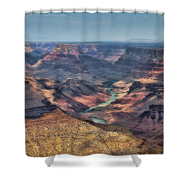 Shower Curtain featuring the photograph Desert View by Jemmy Archer