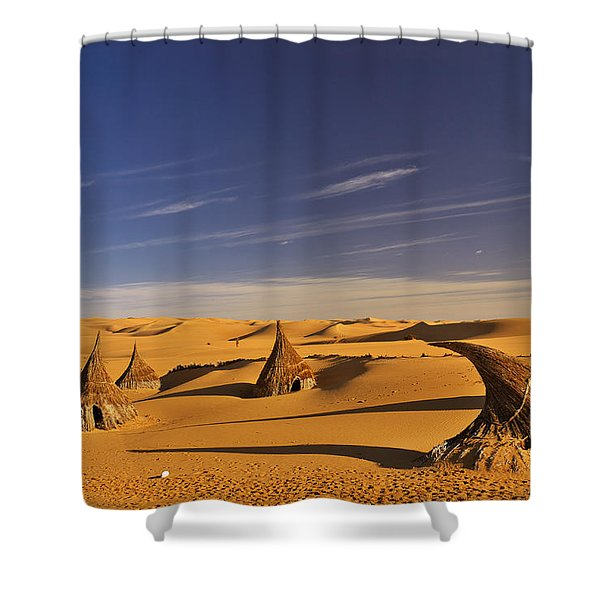 Desert Village Shower Curtain