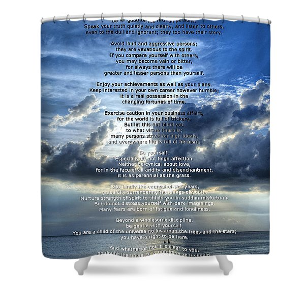 Desiderata 7 - Inspirational Art By Sharon Cummings Shower Curtain