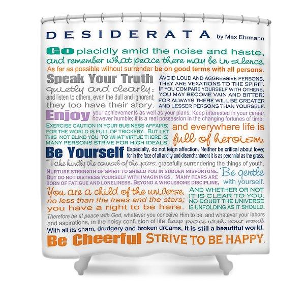 Desiderata - Multi-color - Square Format Shower Curtain