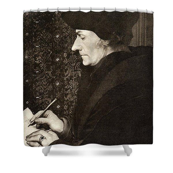 Desiderius Erasmus Shower Curtain