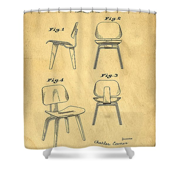 Designs For A Eames Chair Shower Curtain