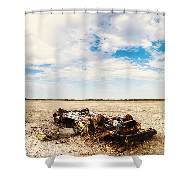 Desolate Desert Wasteland. Deception Bay Shower Curtain
