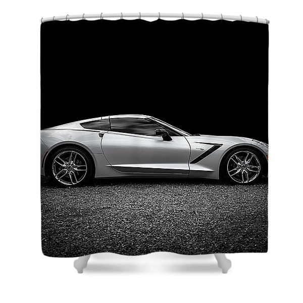 2014 Corvette Stingray Shower Curtain