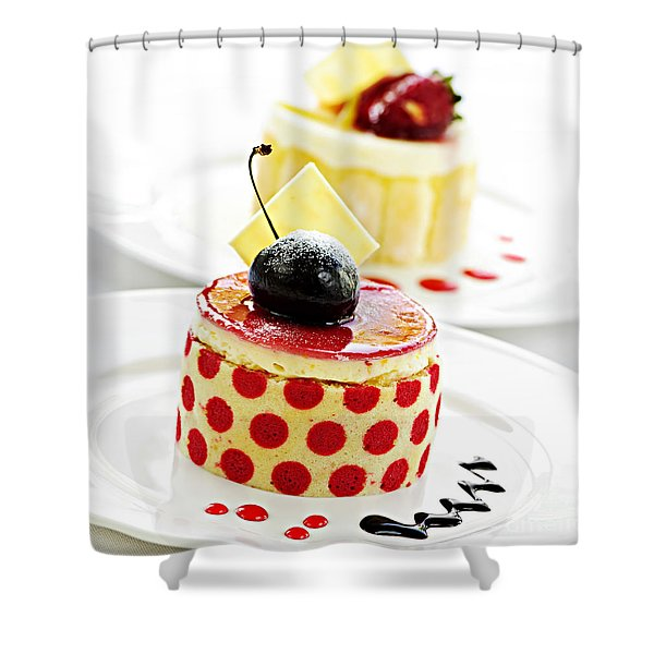Desserts Shower Curtain