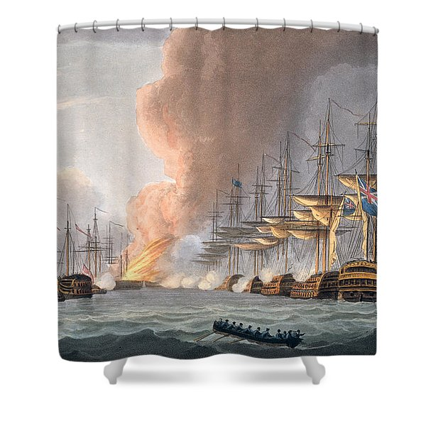 Destruction Of The Danish Fleet Shower Curtain