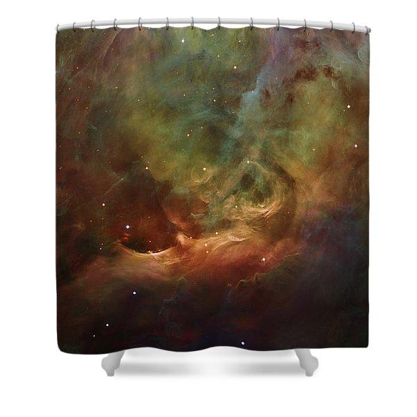 Details Of Orion Nebula Shower Curtain