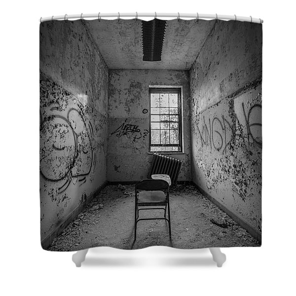 Detention Room Bw Shower Curtain