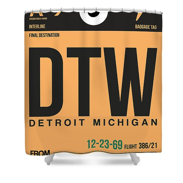 Detroit Airport Poster 1 Shower Curtain