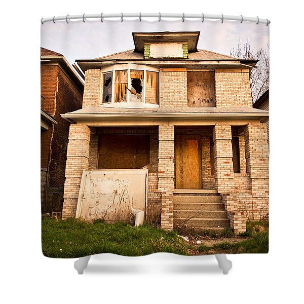 Detroit Neighborhood Shower Curtain