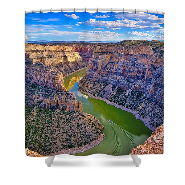 Devil's Canyon Overlook Shower Curtain