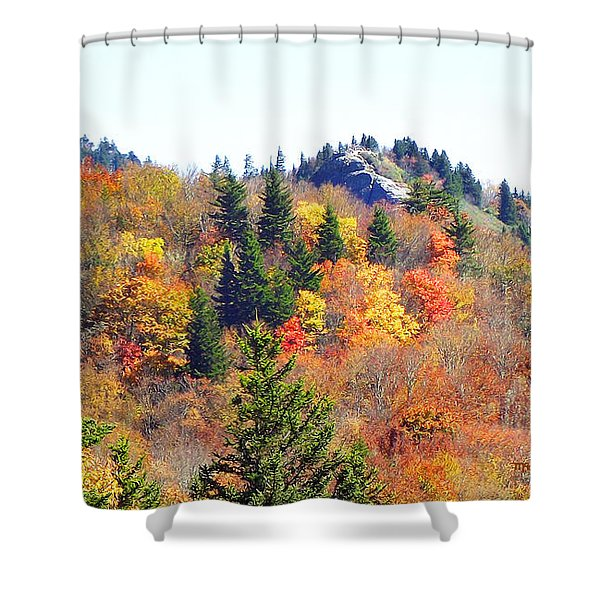 Devil's Courthouse In The Fall Shower Curtain
