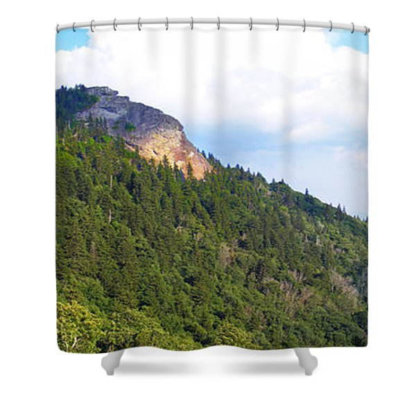 Devil's Courthouse In The Summer Shower Curtain