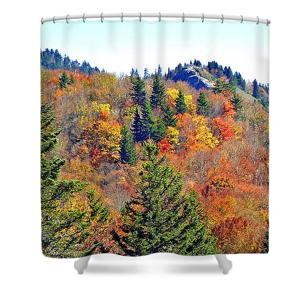 Devil's Courthouse Rock In The Fall 2 Shower Curtain