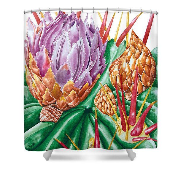 Devil's Tongue Cactus Flower Shower Curtain