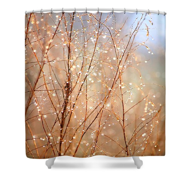 Dewdrop Morning Shower Curtain