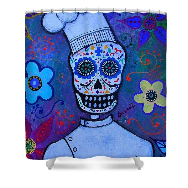 Dia De Los Muertos Cocinero Shower Curtain