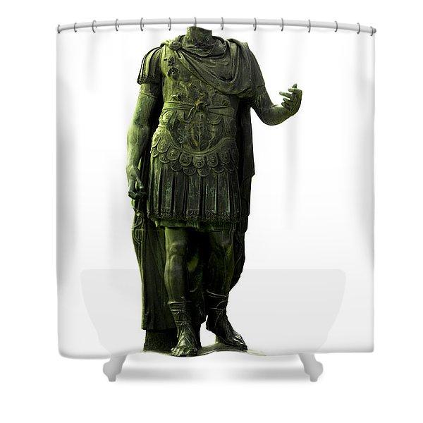 Shower Curtain featuring the photograph Dictator Julius Caesar by Fabrizio Troiani