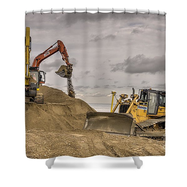 Digging And Dozing Shower Curtain