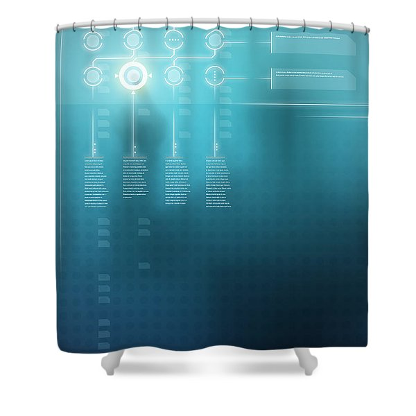 Digital Display  Shower Curtain