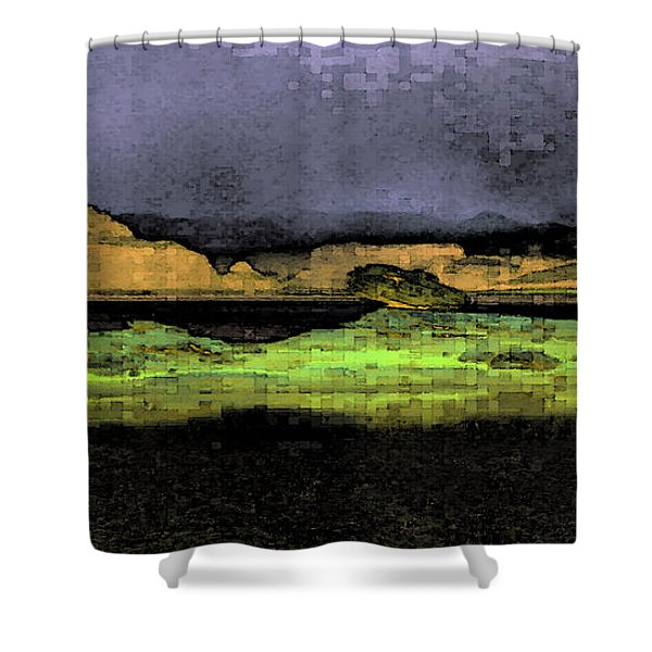 Digital Powell Shower Curtain