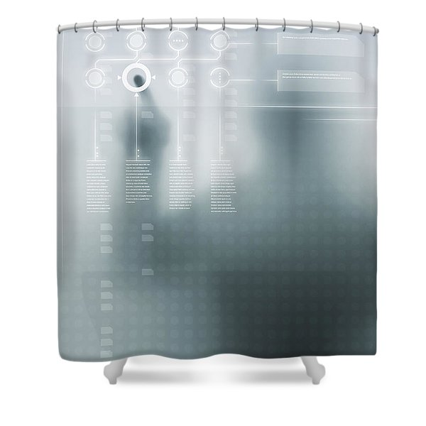 Digital User Interface Shower Curtain