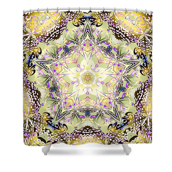 Digmandala Simha Shower Curtain