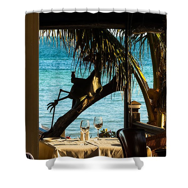 Dining For Two At Louie's Backyard Shower Curtain