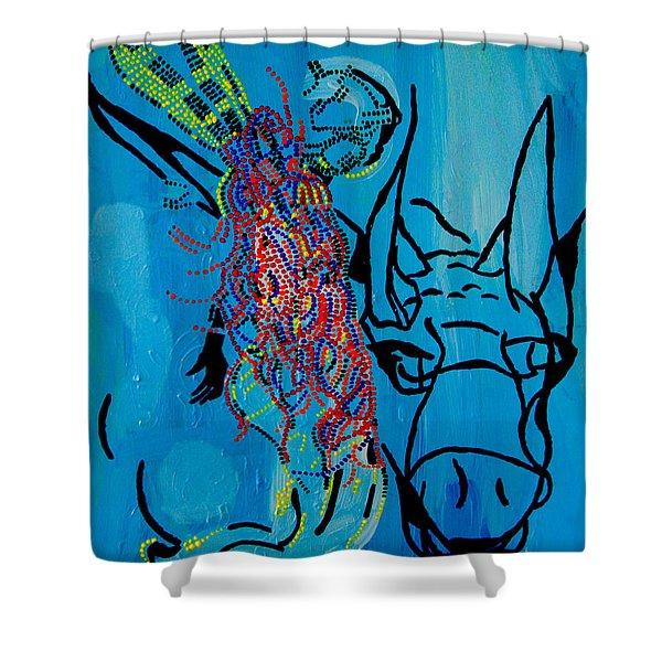 Dinka Groom - South Sudan Shower Curtain