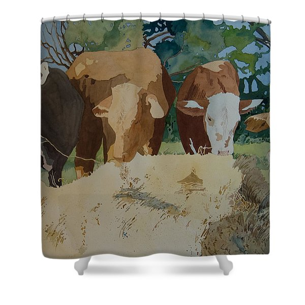 Dinner Time Shower Curtain