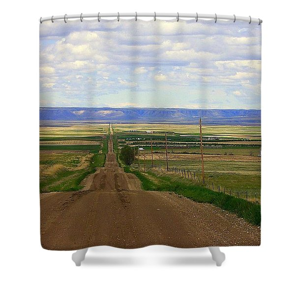 Dirt Road To Forever Shower Curtain