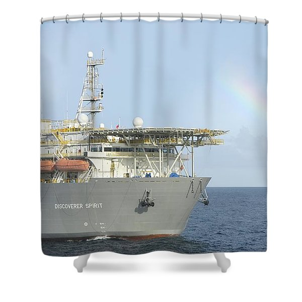 Discoverer Spirit And Rainbow Shower Curtain