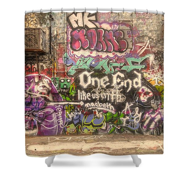 Disorderly Conduct Shower Curtain